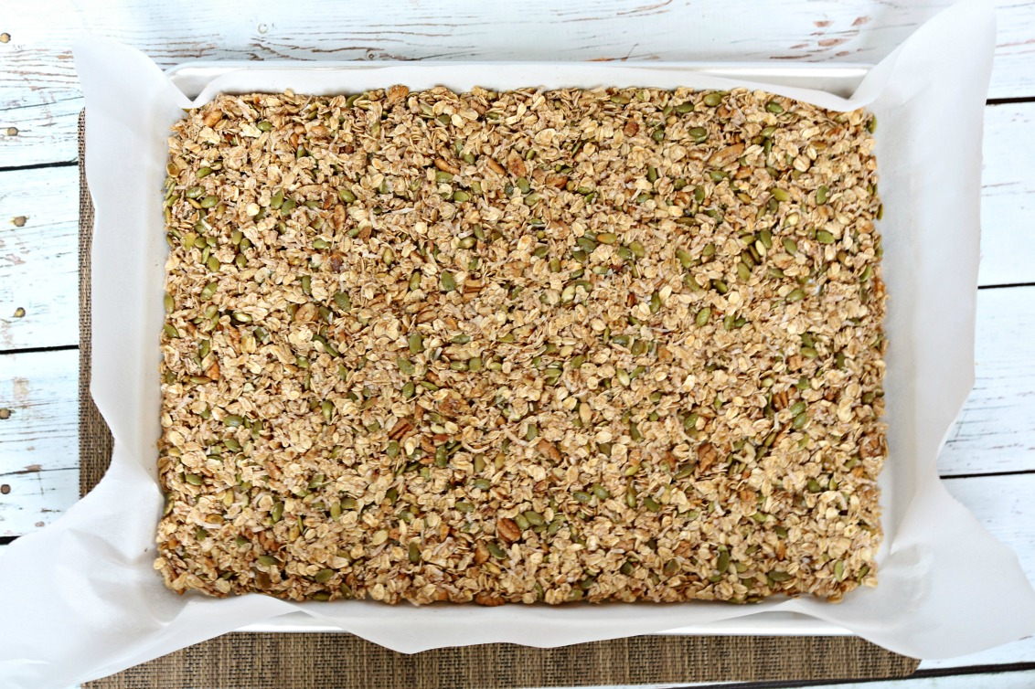 Granola with Coconut Recipe just before placing in the oven!