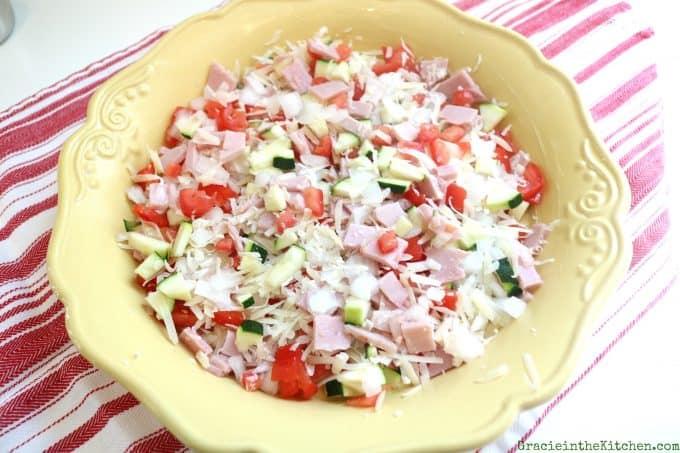 Easy Ham and Veggie Quiche