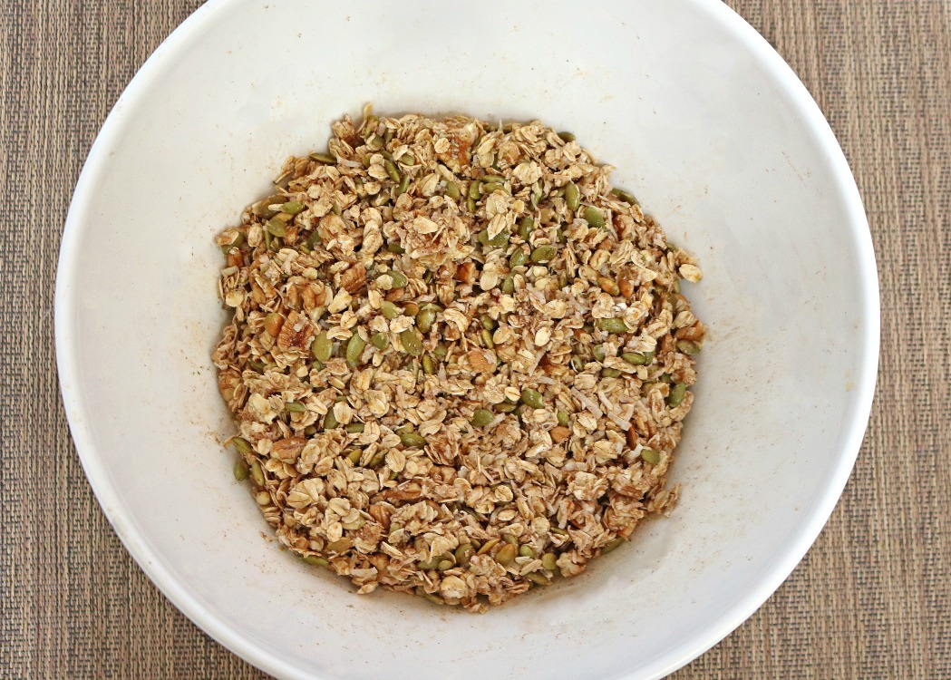 Bowl of Granola with Coconut Ingredients