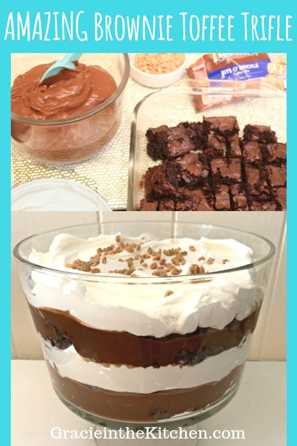 Amazing Easy Brownie Toffee Trifle By Gracie in the Kitchen