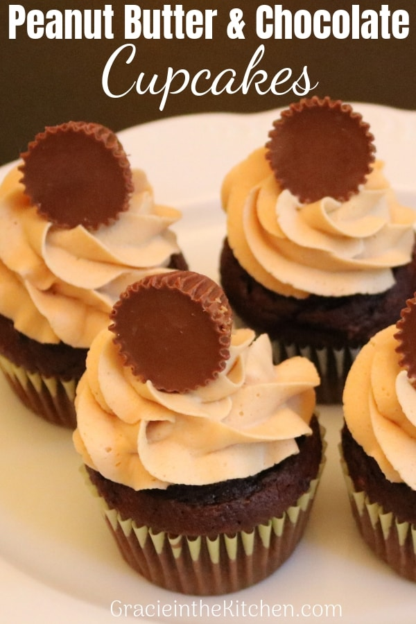 Easy Peanut Butter and Chocolate Cupcakes