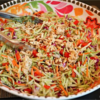 This Delicious Broccoli Slaw recipe is so easy to make!