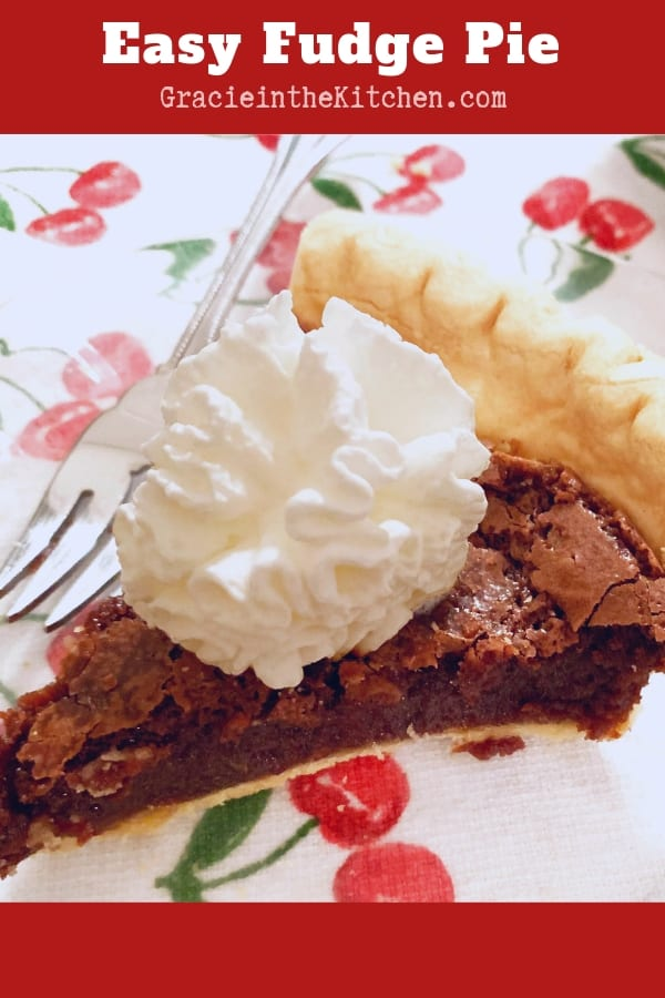 This Easy Fudge Pie is SO decadent and delicious!