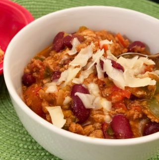 Closeup of Turkey Chili