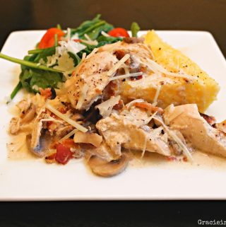Chicken with Parmesan Mushroom Cream Sauce