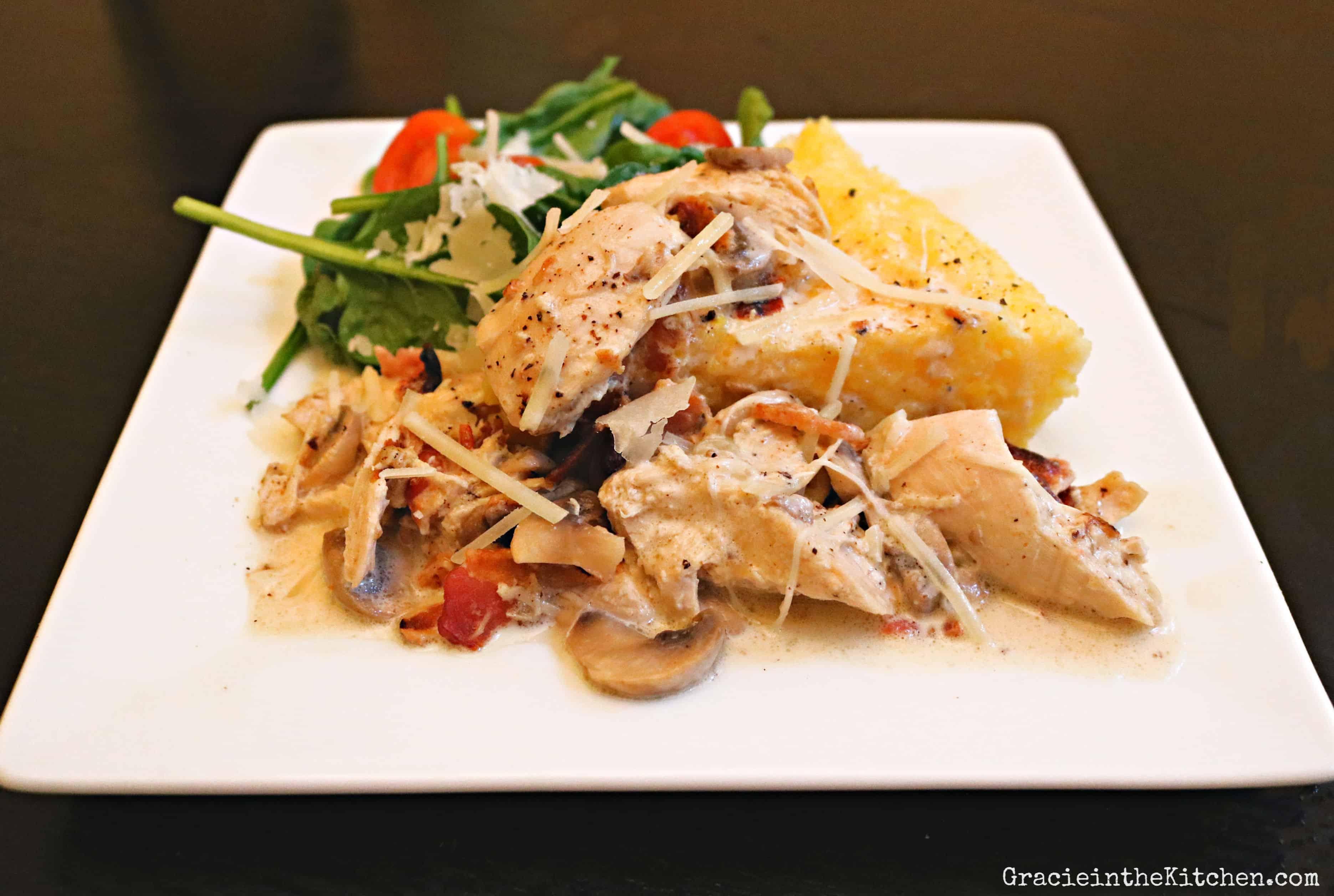 Chicken with Parmesan Mushroom Cream Sauce