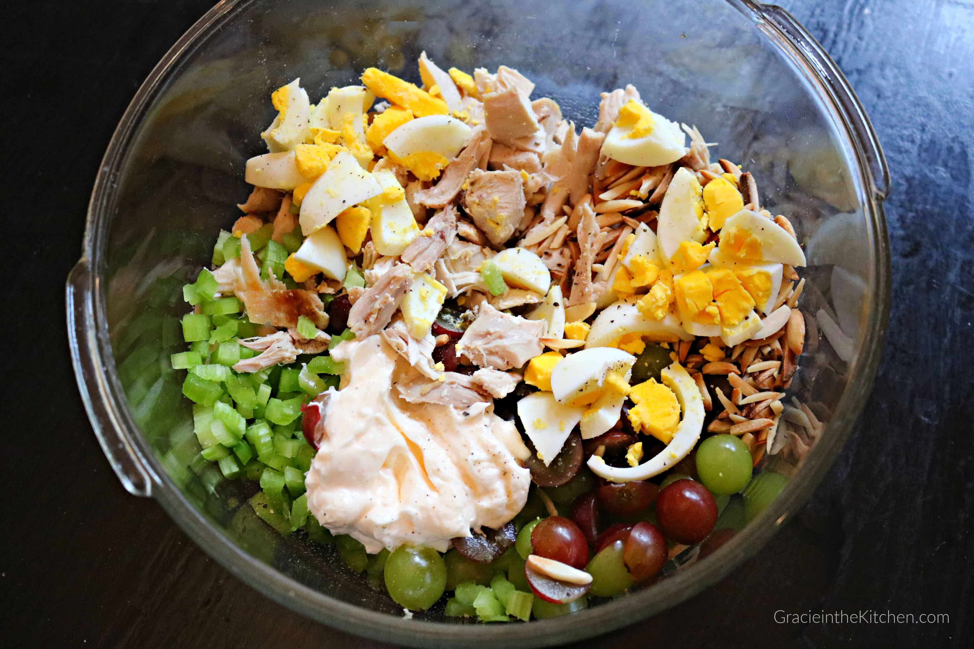 This Almond Chicken Salad Recipe is the Best! So simple and has so much flavor!