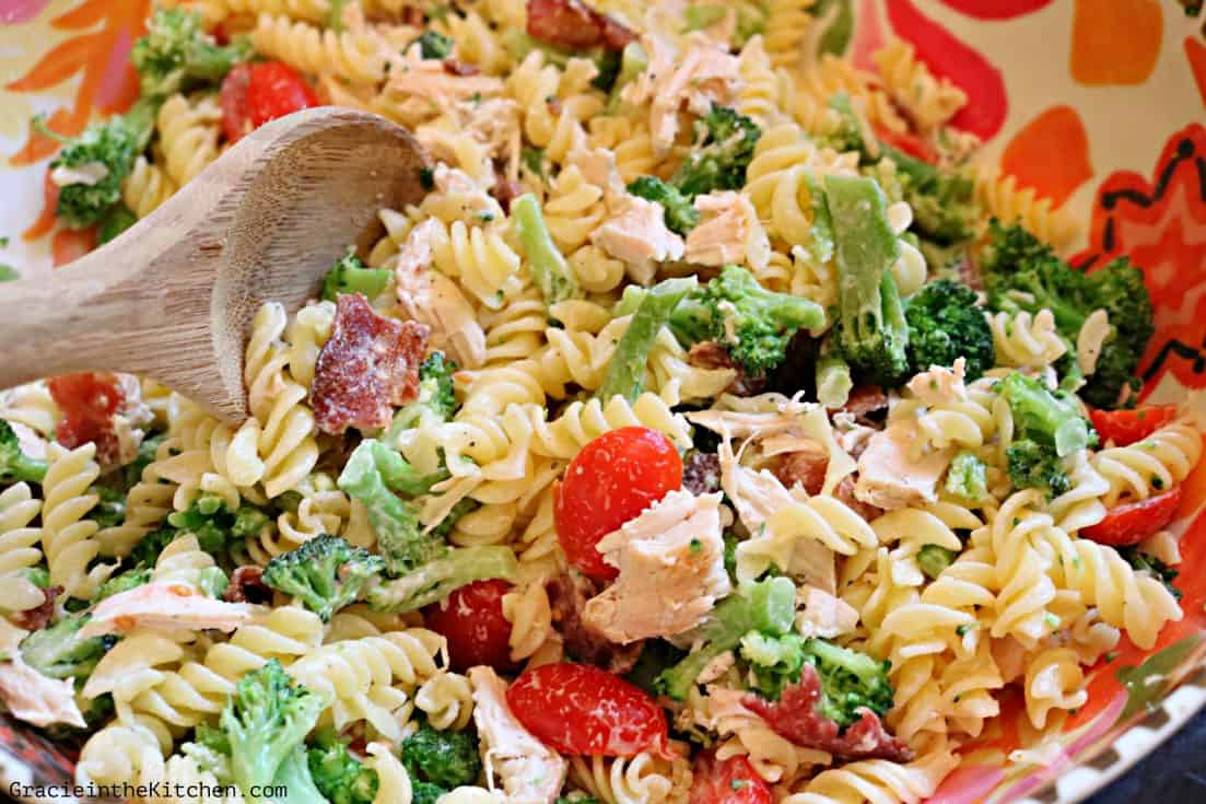 Chicken and Bacon Pasta Salad with Ranch