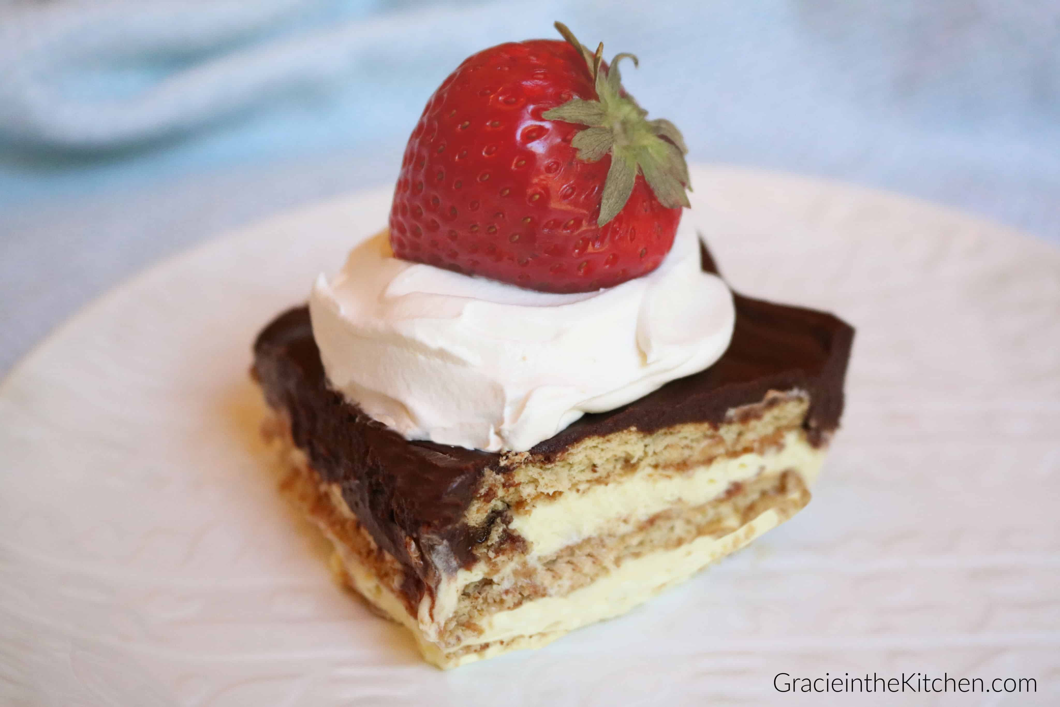 Easy Chocolate Eclair Cake