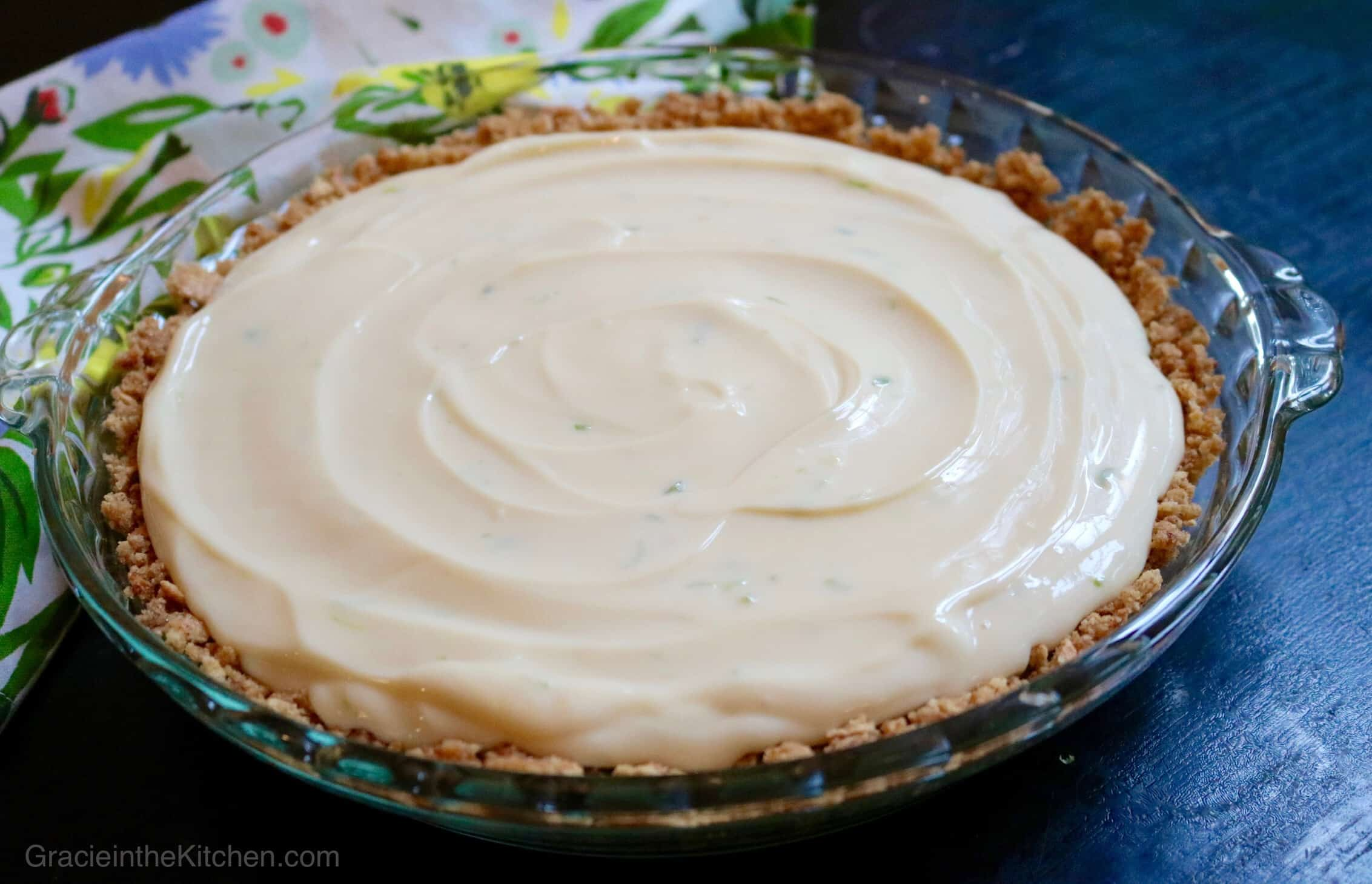 Best Key Lime Pie - Getting ready to put our delicious key lime pie into the oven!