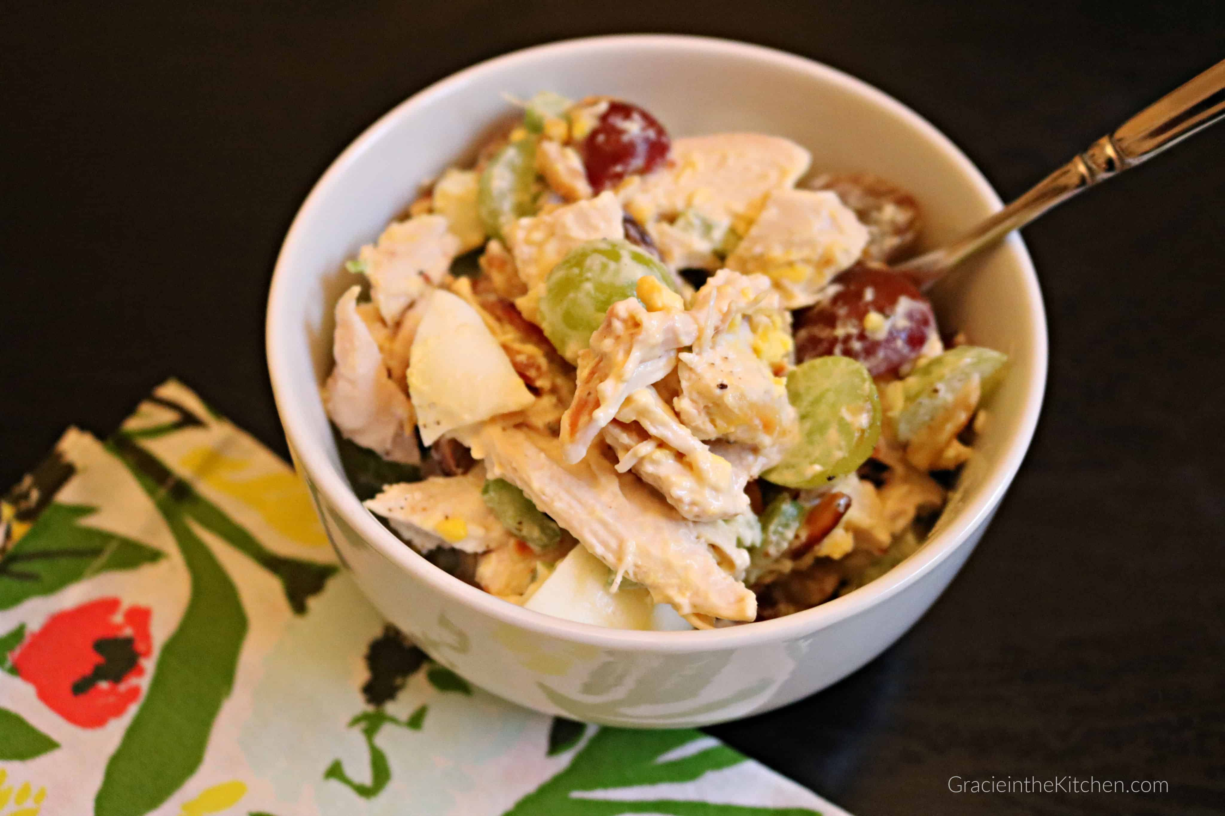 This Almond Chicken Salad Recipe is the BEST!