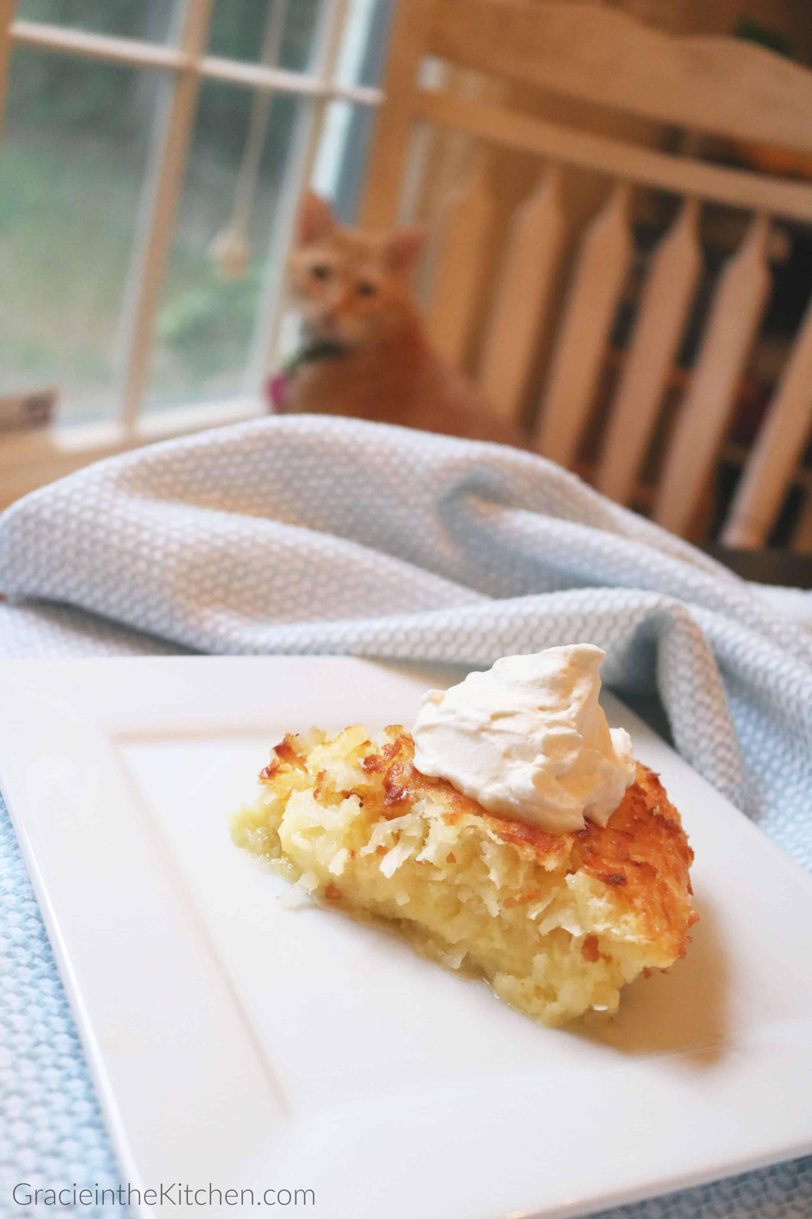 Crustless Coconut Pie