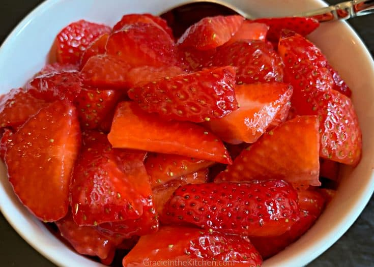 Delicious Macerated Strawberries