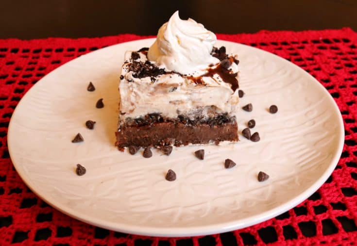 Brownie Ice Cream Sundae Cake