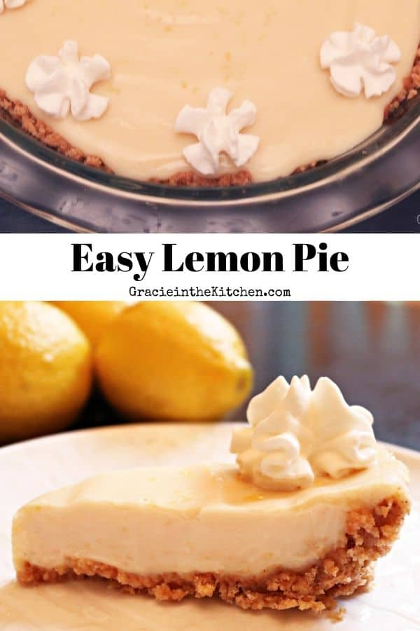 This Easy Lemon Pie Recipe is the BEST! So simple, creamy, and delicious!