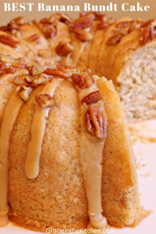 Best Banana Bundt Cake with Brown Sugar Glaze