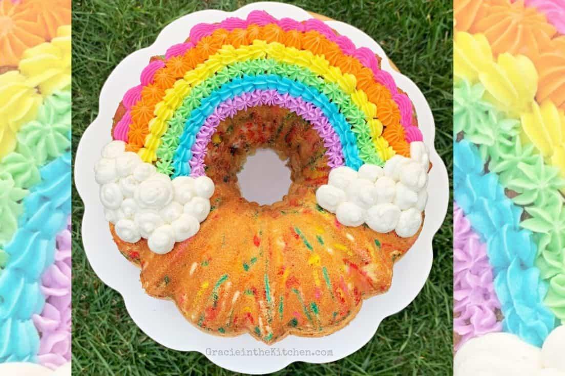 Rainbow Funfetti Pound Cake
