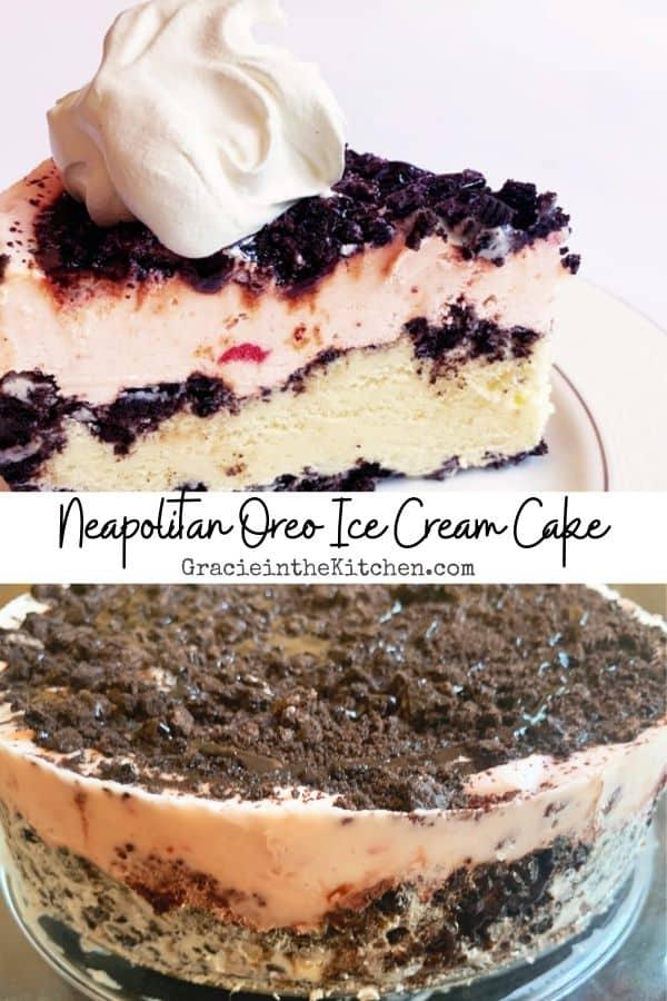 Easy and Delicious Neapolitan Oreo Ice Cream Cake